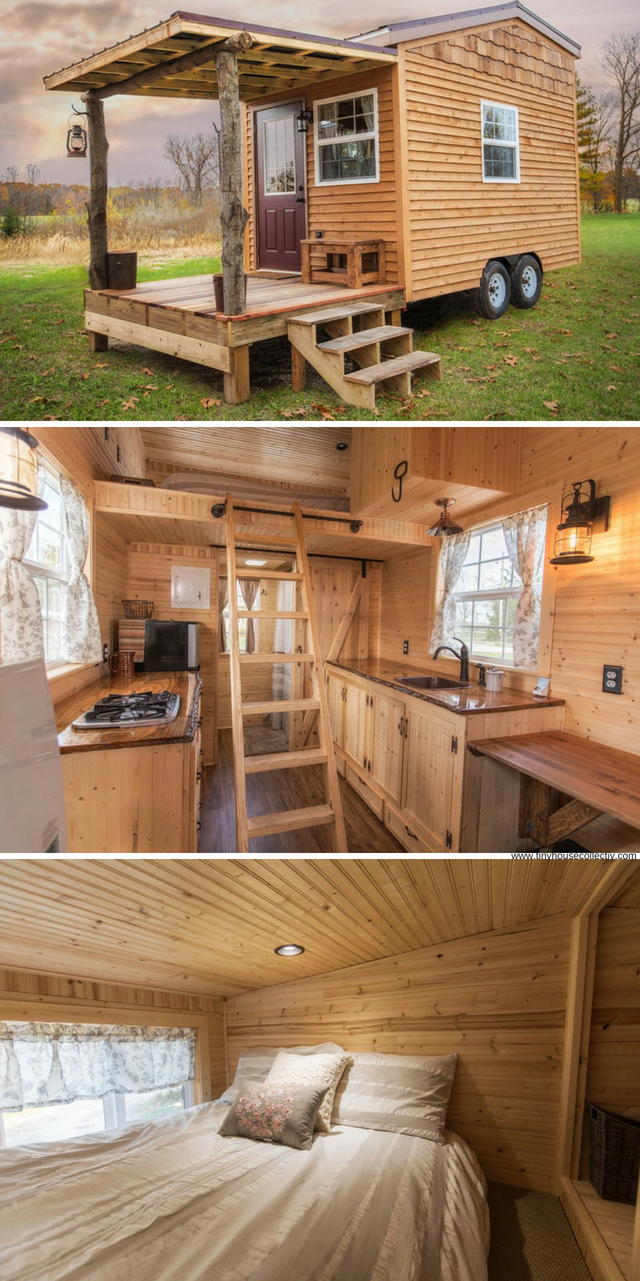 The Petite Cabin A 150 Sq Ft Tiny Home For Sale In Indiana Romanticcabins Tiny Houses For Sale Tiny House Trailer Tiny House Living
