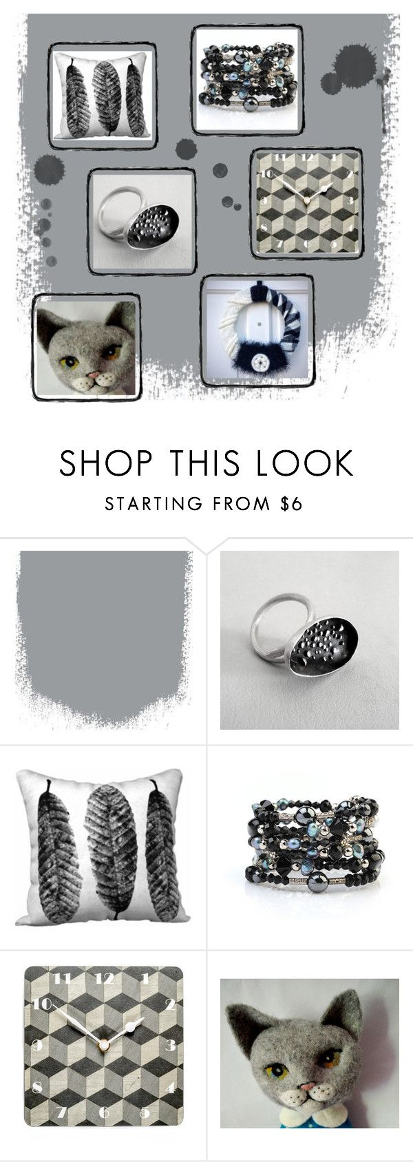 """The Grey that Matters"" by fivefoot1designs ❤ liked on Polyvore featuring interior, interiors, interior design, home, home decor, interior decorating and Satine"