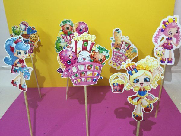 birthday 9th birthday character cupcakes shopkins cupcake toppers ...
