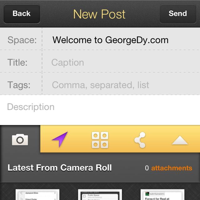 """Get posting with Posterous for iPhone. Now called """"Spaces,"""" let this app make blog posts simpler. Select your media and let it go."""
