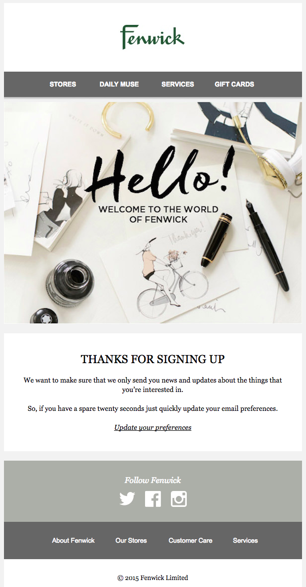 A Guide To Sending Brilliant Ecommerce Welcome Emails Email Marketing Examples Email Layout Email Marketing Design