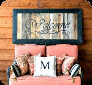 Distressed Hand Painted Pallet Wood Sign Sealed With