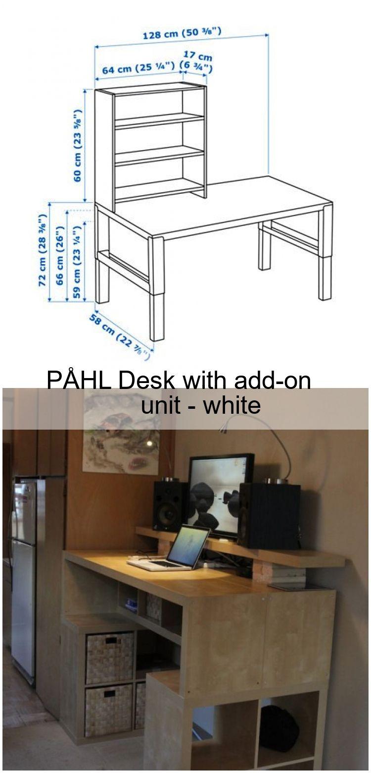 Pahl Schreibtisch Mit Aufsatz Weiss Desk Hacks Ikea Home Diy
