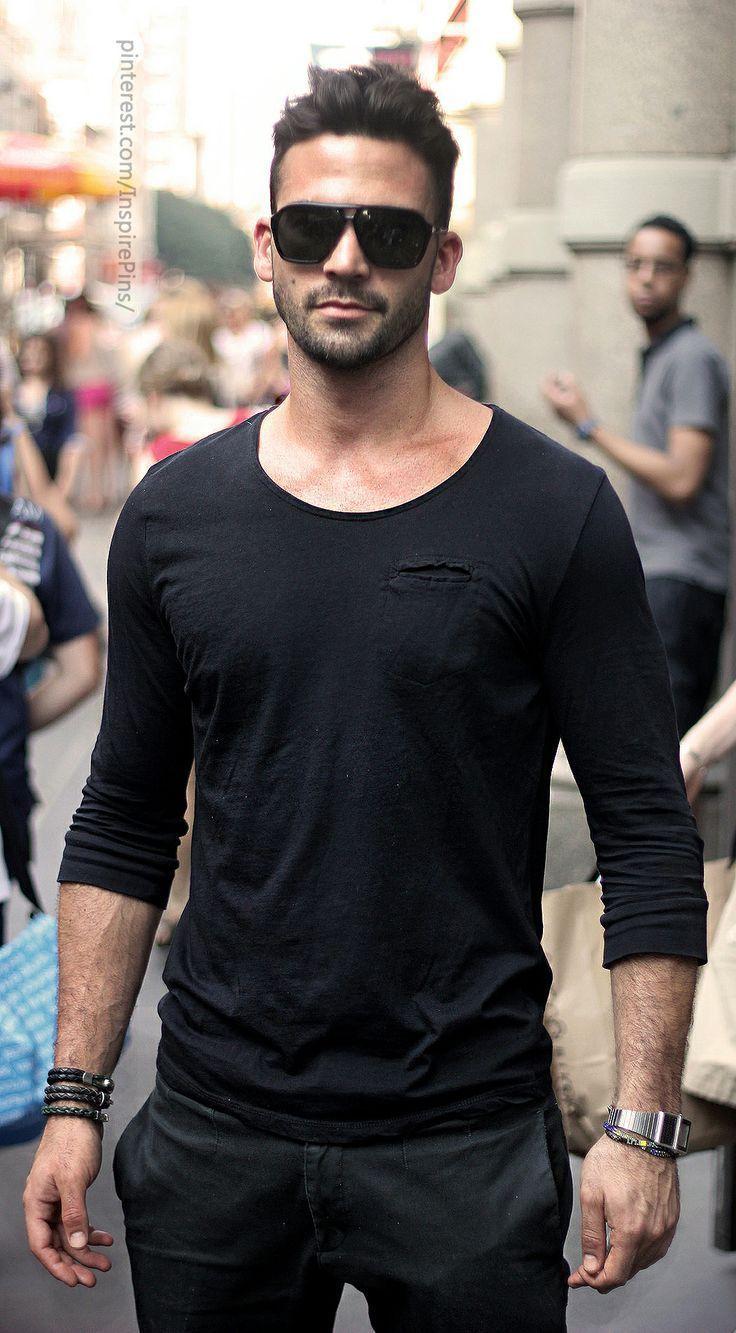 Bildresultat för black shirt men look | Fashion | Pinterest