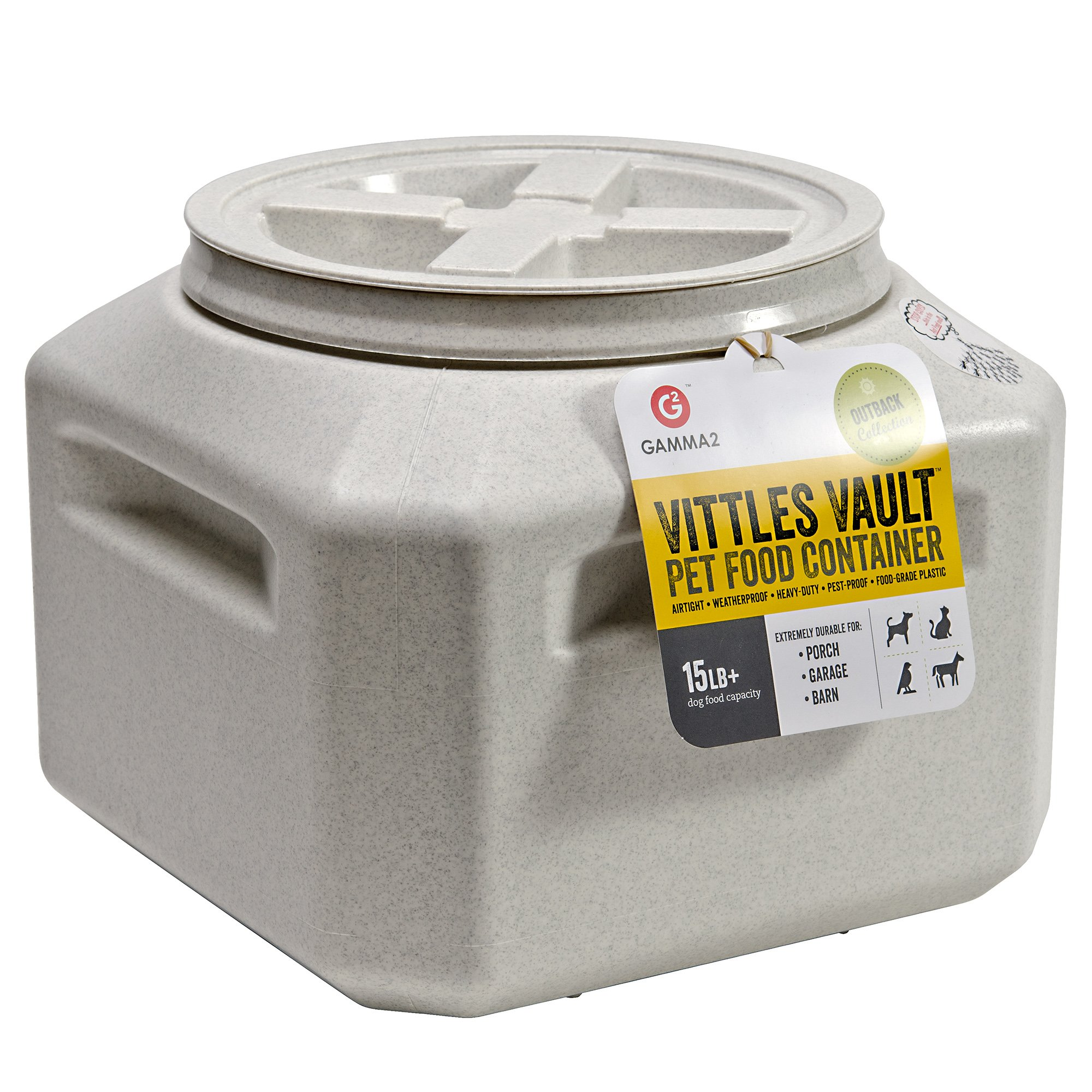 Gamma Vittles Vault Plus 15 Small Off White Pet Food
