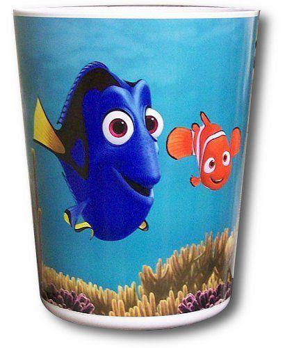 Nemo Bathroom Set: Disney Finding Nemo Plastic Waste Basket