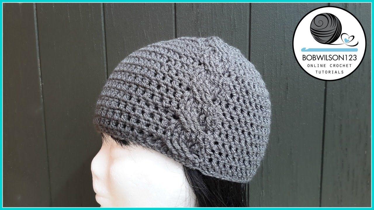 Cassiopia Cable Stitch Hat Crochet Tutroial | gorros mutzem ...