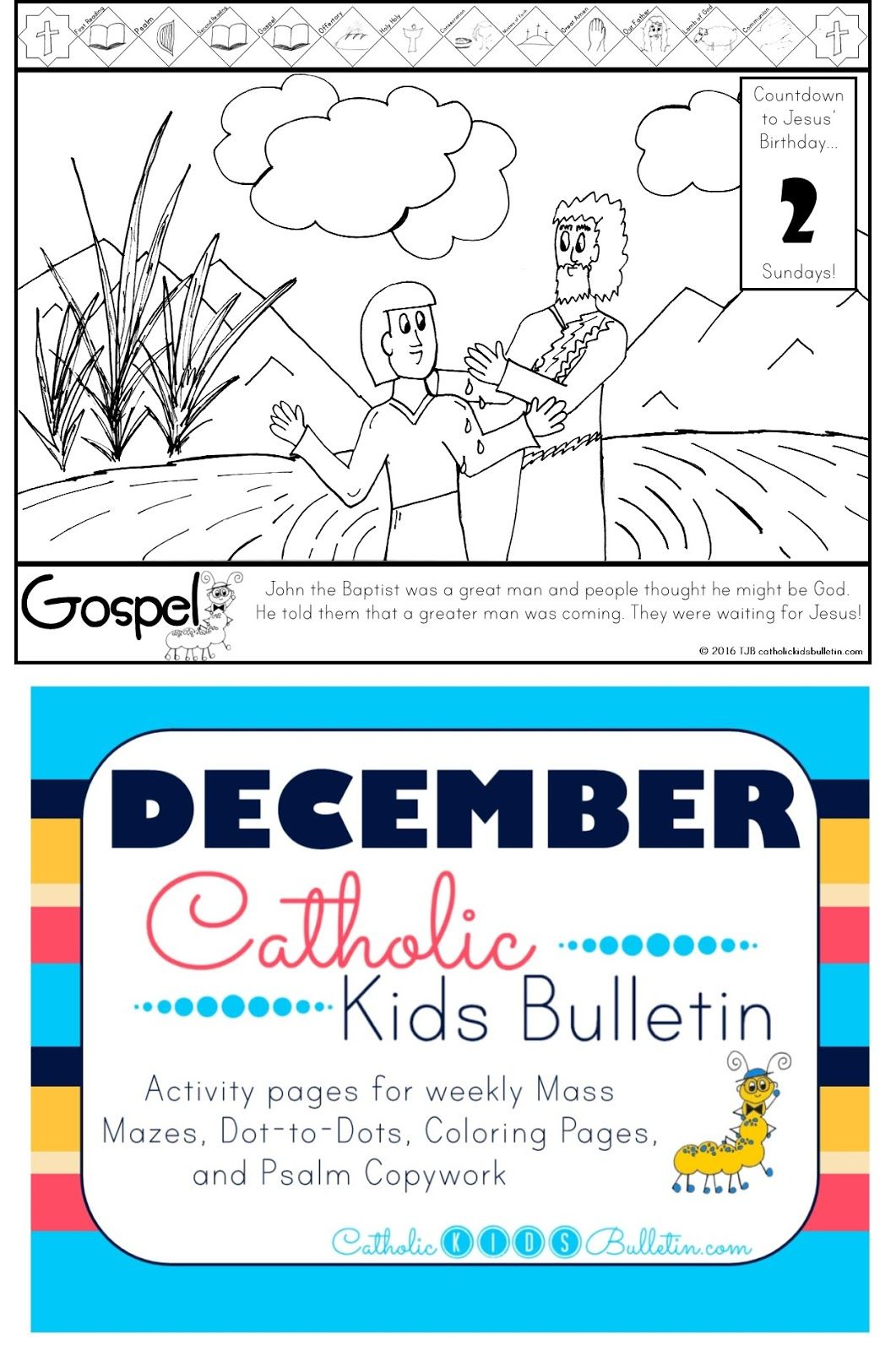 December Catholic Kids Bulletin