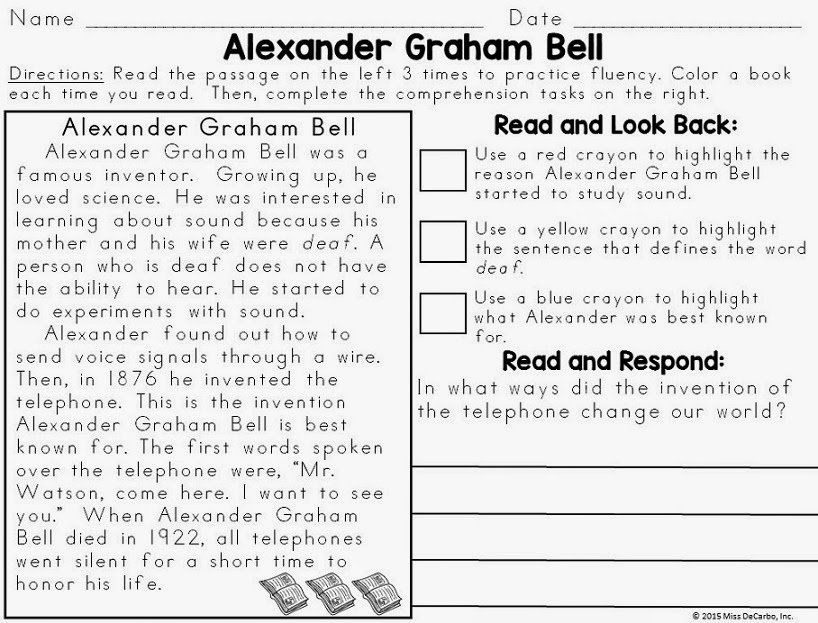 Text Evidence Reading Passages Biography Edition With Images