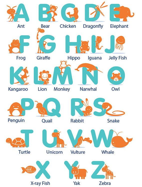 Kids Letters Of The Alphabet With Animals And There Name Can Do It