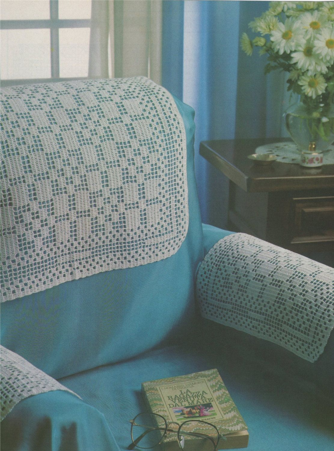 Antimacassars Crochet Pattern PDF Chair And Sofa Furniture Protectors Headrest And Armrest