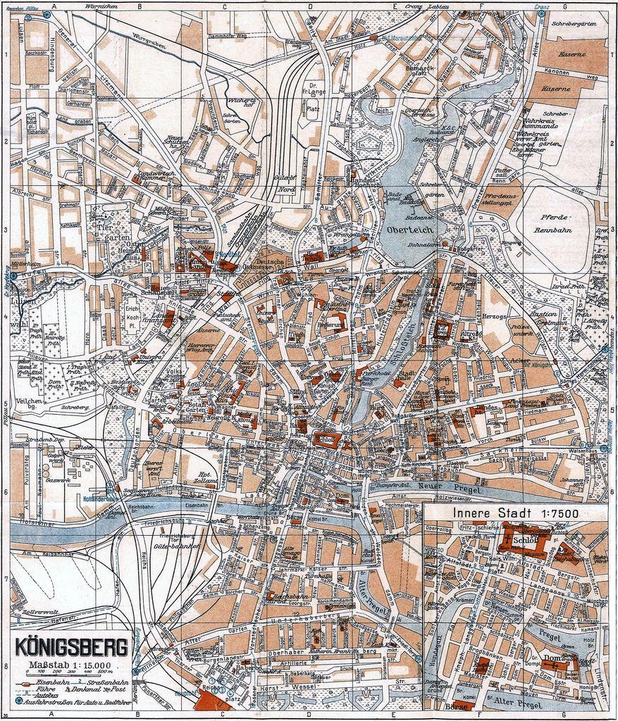 Königsberg Kaliningrad Karte.001 Königsberg Stadtplan 1941 Kenigsberg 1255 1947