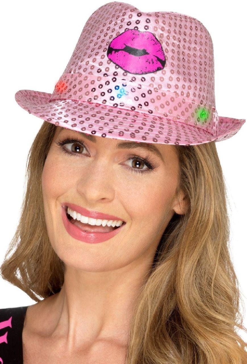 790610540a2 Ladies Light Up Hen Do Fancy Dress Hat sequins and lights