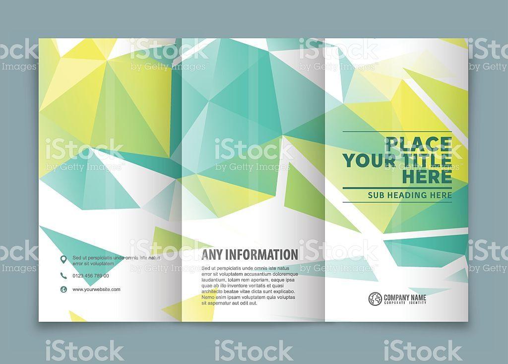 tri fold brochure design with copy space tri fold brochure tri