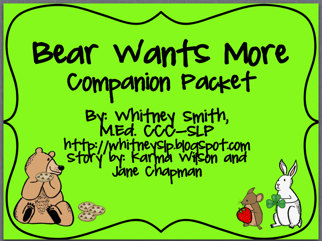 Bear Wants More Product Swap And Giveaway