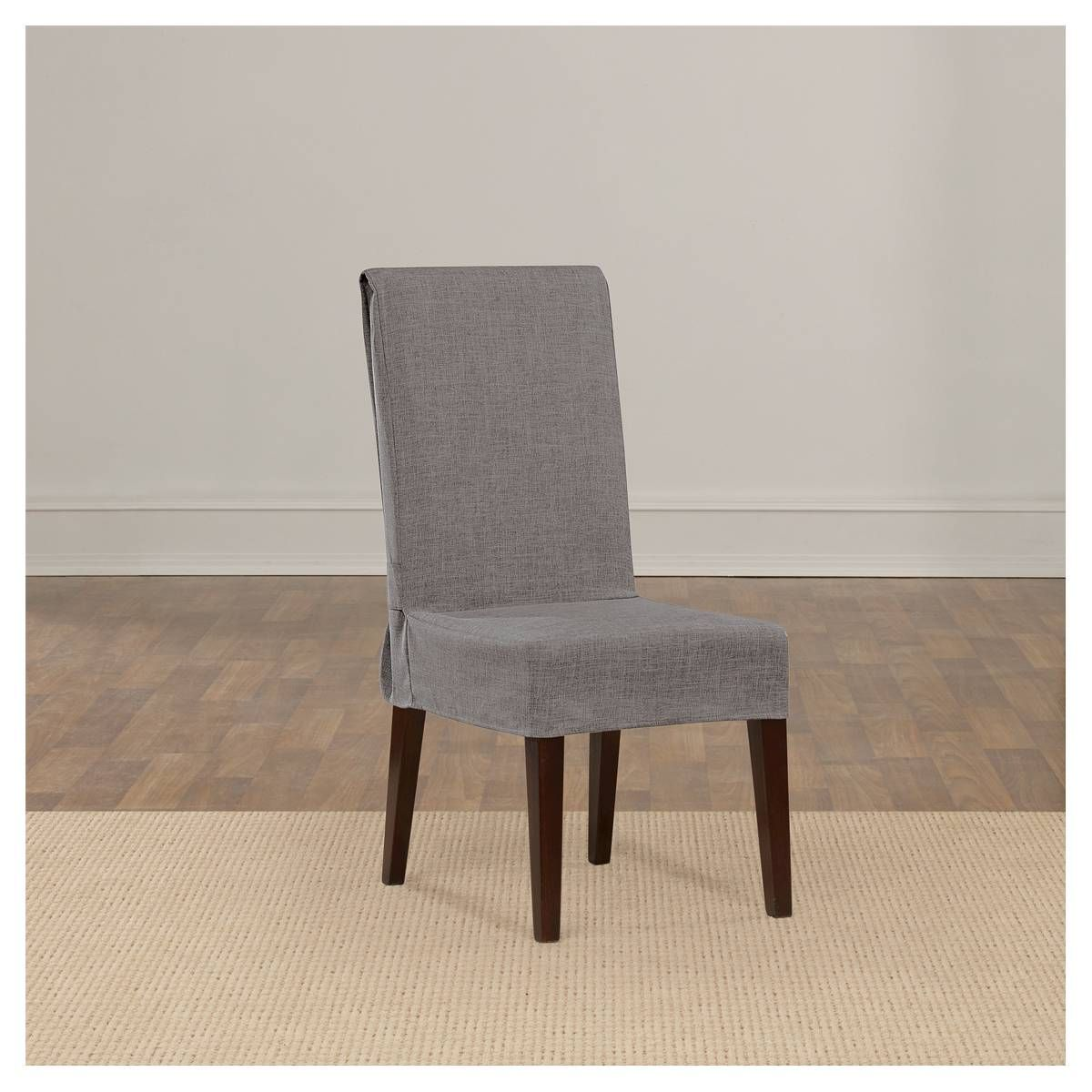 Mason Short Dining Room Chair Slipcover Grey