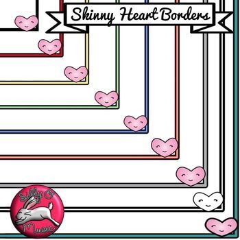 Free Cute Heart Border Clip Art Freebie Its Perfect For Valentines Day Ok For Small Commercial Use  Border Colorsteal Red Yellow Green Gray
