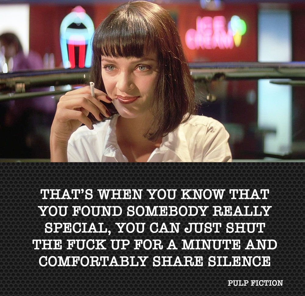 Genial Pulp Fiction Quote Citation By Me