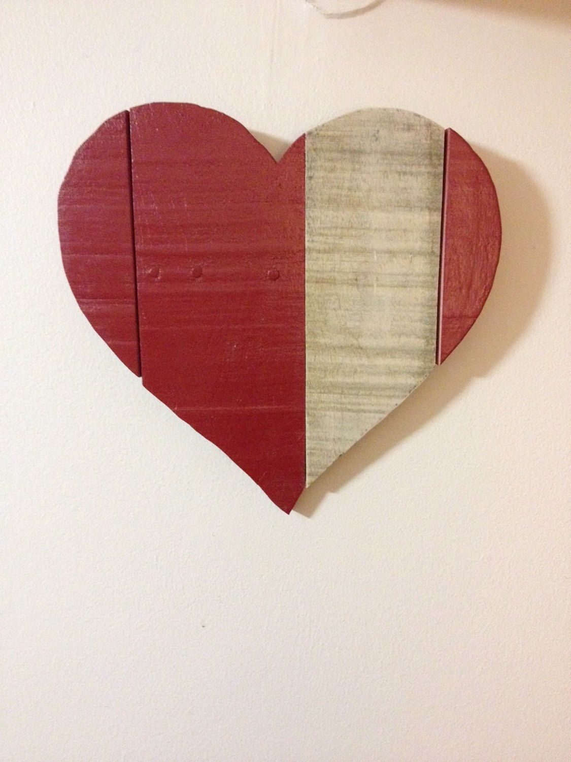 Rustic Pallet Wood Red Heart Wooden Heart Red Heart Wall Hanging Rustic Farmhouse Decor Pallet Wood Home Decor Wooden Hearts Wood Home Decor Wood Pallets