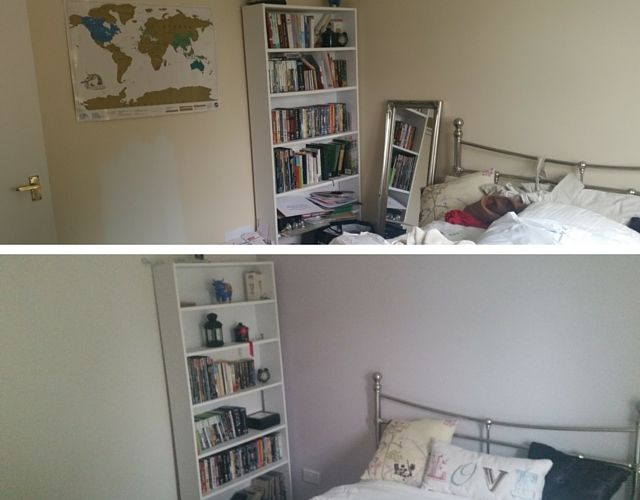 Spare room - before and after 2
