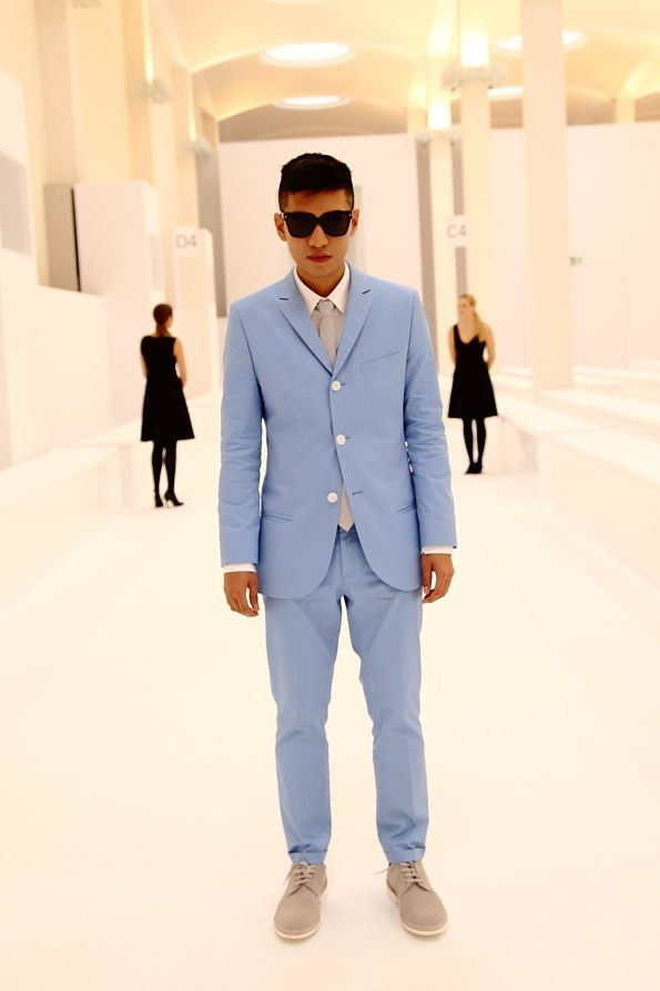 pastel/colored suit from Bryan Boy - I can't velieve I'm agreeing ...