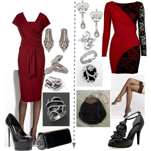TW evening SD and TR by skugge on Polyvore featuring Donna Karan, Commando, Wolford, Audrey Brooke, Gianmarco Lorenzi, Christian Louboutin, Bloomingdale's, Yochi, 1928 and Punkt.