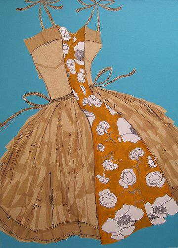 """made by one girl"" (lisa norris) dress pattern collages. i want one, or four!"