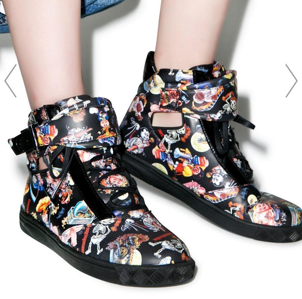 Iron Fist Garbage Pail Kids High Tops Fashion Clothing Shoes Accessories Womensshoes Athleticshoes Ebay Link Kids High Tops Women Shoes Athletic Shoes