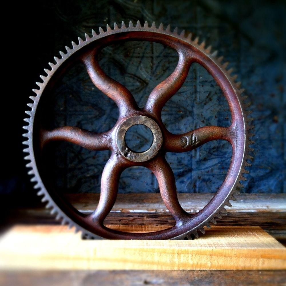 Industrial Gear Decor Iron Anarchy In 2020 Steampunk Home Decor Industrial Chic Decor Vintage Industrial