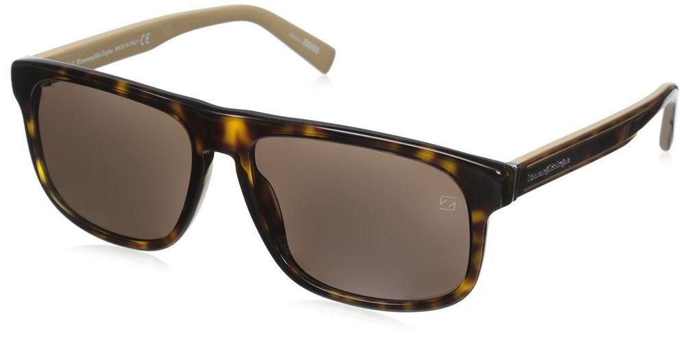 fe4826f4b eBay #Sponsored Ermenegildo Zegna Men's EZ0003 Sunglasses Dark Havana/roviex