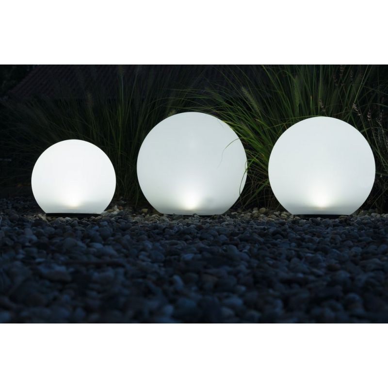 Leuchtkugeln 3er Set Boule, tolles Licht ganz ohne Strom - solarleuchten garten antik
