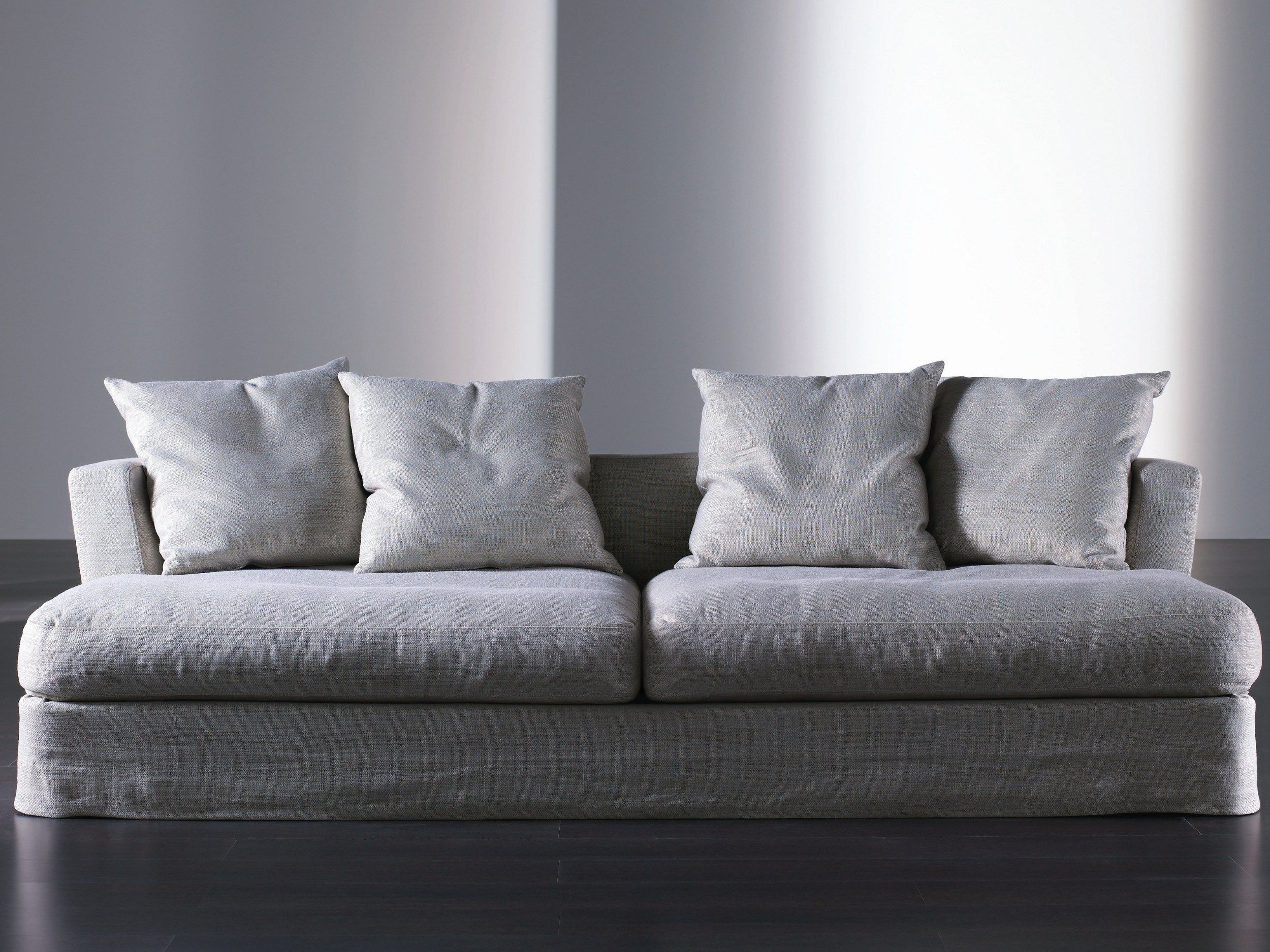 Upholstered Sofa With Removable Cover KEATON GHOST Keaton Collection By  Meridiani