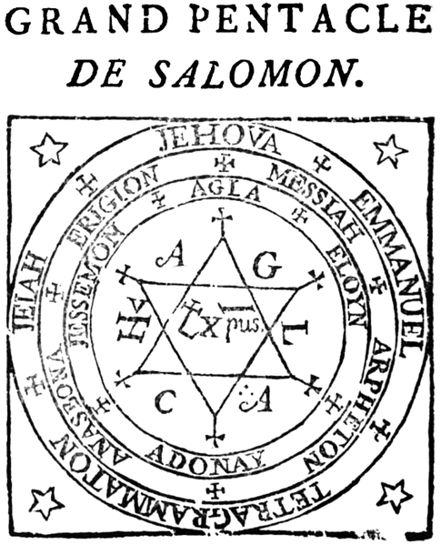 File Grand Pentacle De Salomon From 1547 French Edition Of Heptameron Png Nota De Muerte Pentáculos Sello De Salomon