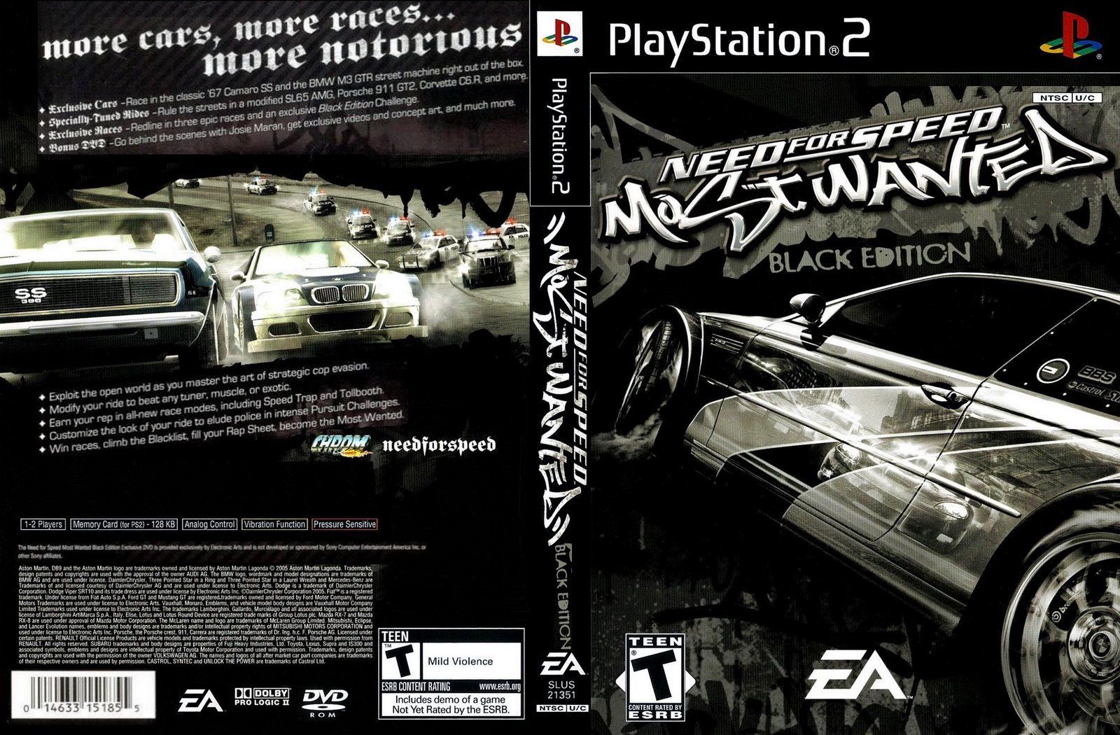 Need For Speed Most Wanted Black Edition Ps2 Fondos De Pantalla