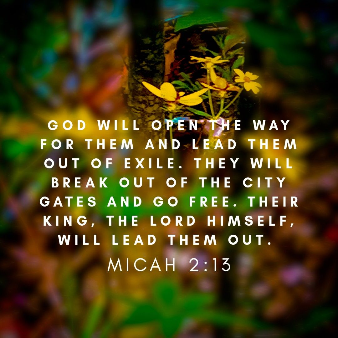Image result for Micah 2:13
