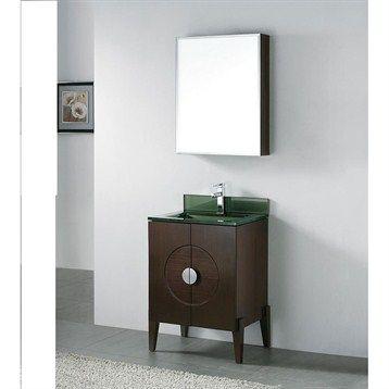 Madeli Genova 24 Bathroom Vanity With Glass Basin Walnut 24 Bathroom Vanity Bathroom Vanity Vanity Bathroom vanities manhattan ryvyr v