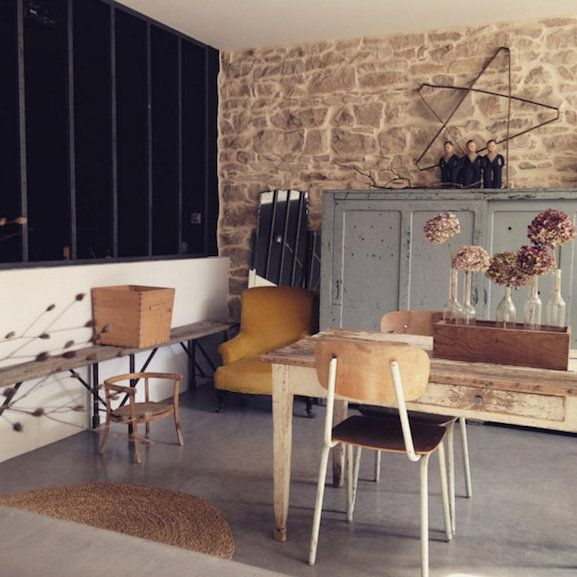 Salle a manger style brocante marie enes