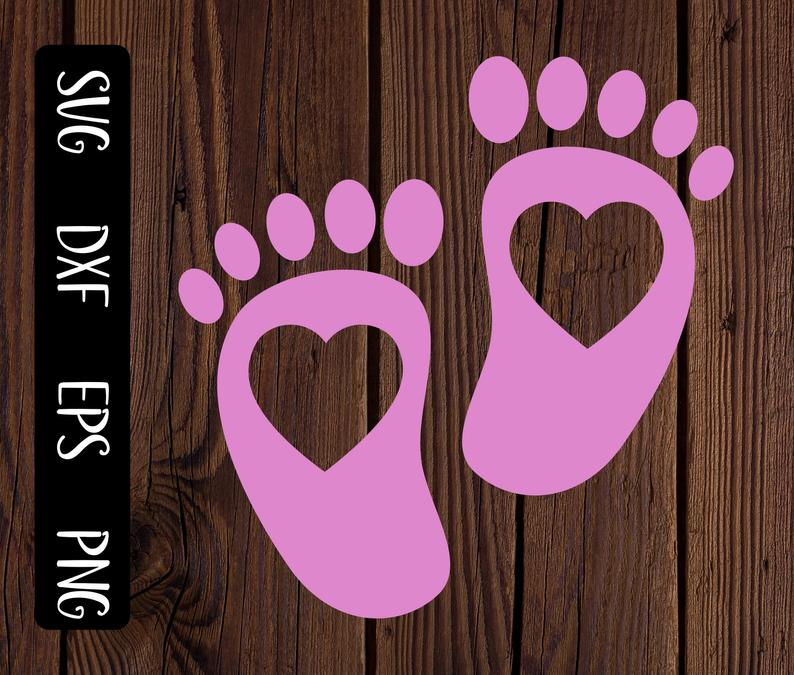 Pink baby footprints svg, it's a girl, baby shower svg