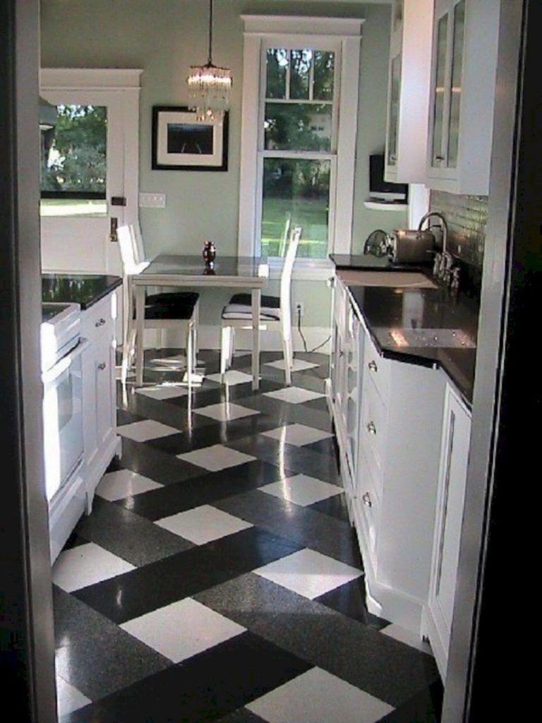 20+ Most Popular Kitchen Design With Black White Flooring