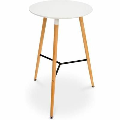 la table ronde dsw style saccorde parfaitement avec les tabourets de bar c - Table Ronde Bar