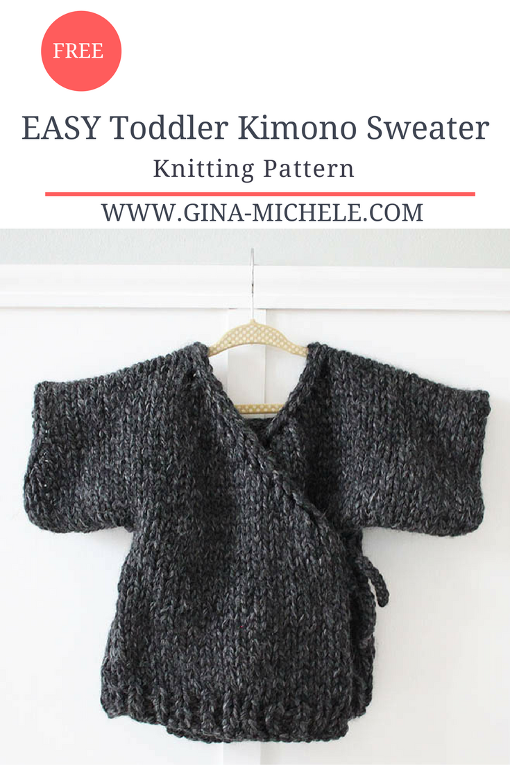 EASY Toddler Kimono Sweater- FREE Knitting Pattern Blogger Knitting Pattern...
