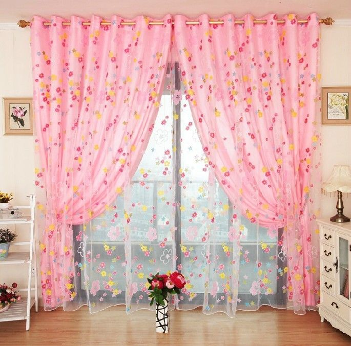 Simple Elegance Pink Curtain Designs For Girls Pretty Me Pink