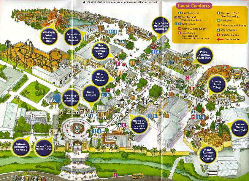 Warner brothers movieworld 2002 theme park maps pinterest warner brothers movieworld 2002 gumiabroncs Choice Image