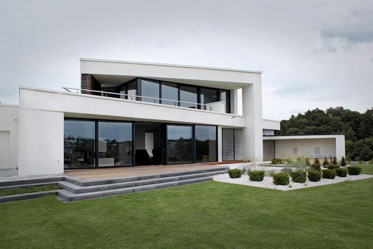 Modernes Designhaus mit Flachdach von Avantecture GmbH