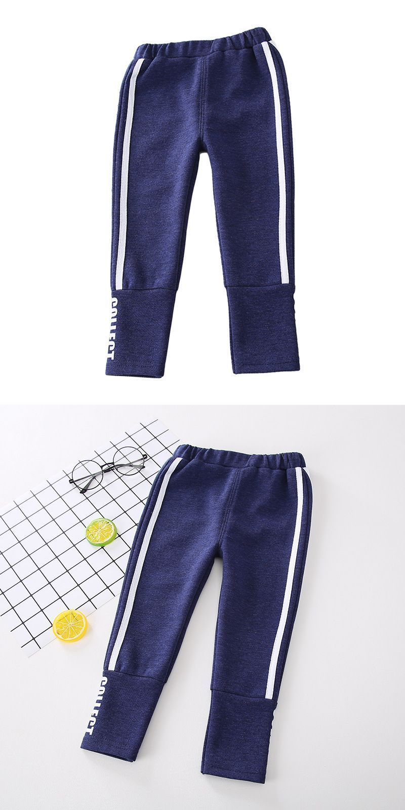 f9751b43 Boys cotton stripes design casual sports pants boys cargo sweatpants open  bottom #white #bottom