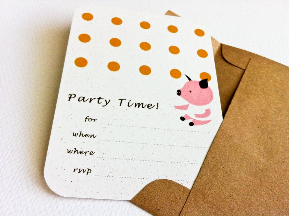 Assorted Fill-in Party Invitation - Children\'s Birthday Party ...