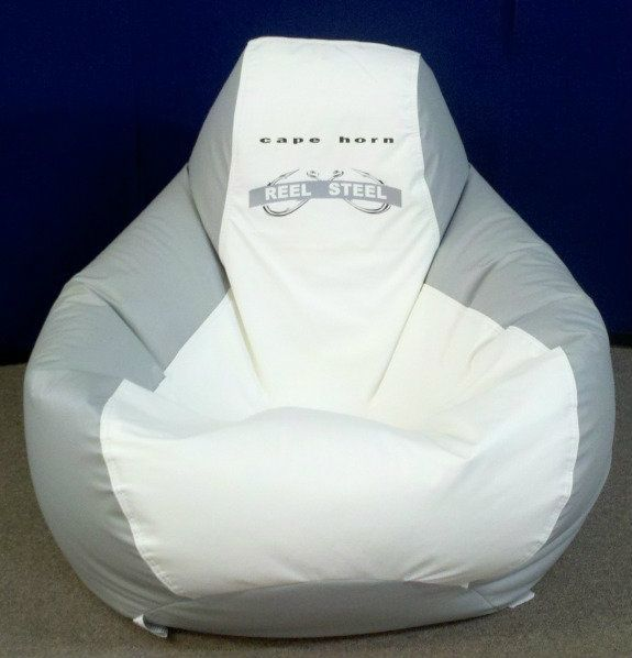 Ocean Tamer Teardrop Marine Bean Bag With A Custom Cape Horn Boats Logo And  Customers