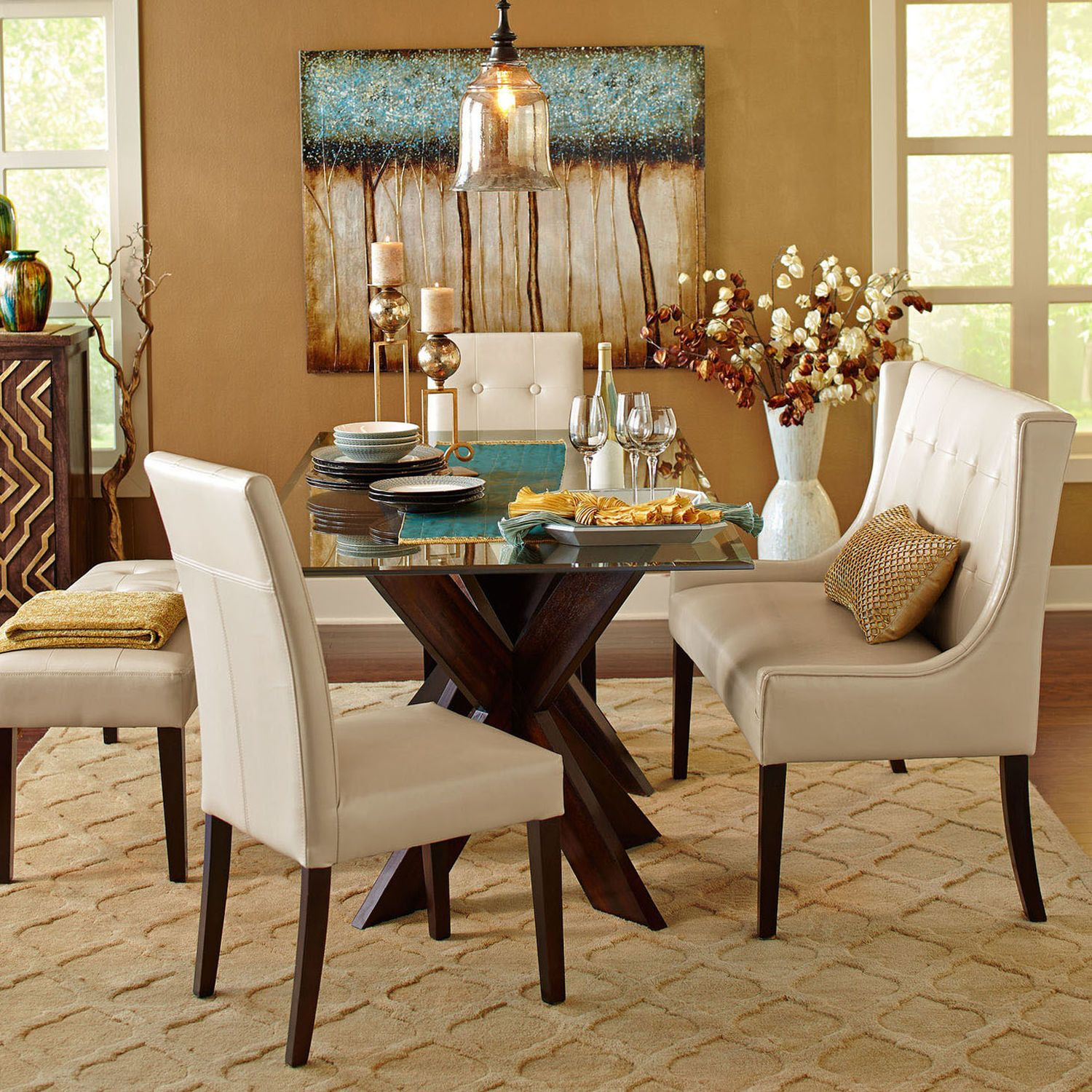Simon Espresso X Dining Table Base Settees Espresso And Dining Area # Muebles Pier Import