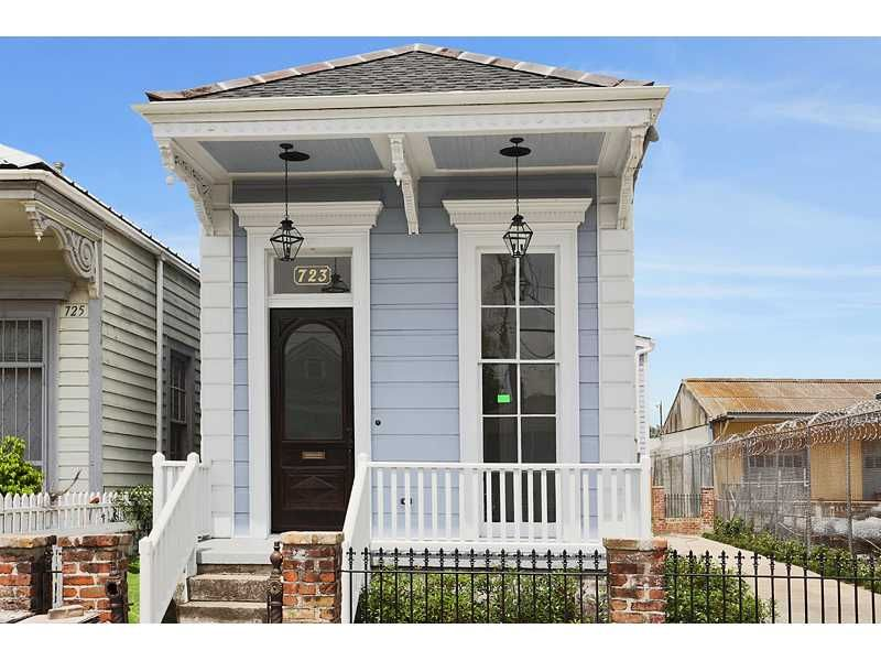 New Orleans Shotgun House Aline St Exterior Small Homes
