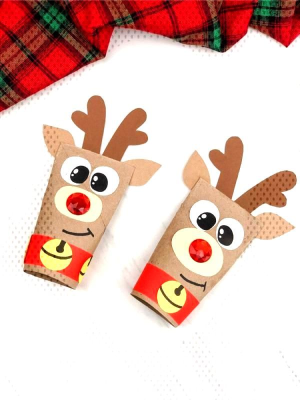 This Rudolph the red nosed reindeer craft is a fun recycled craft project for kids to make for Xmas